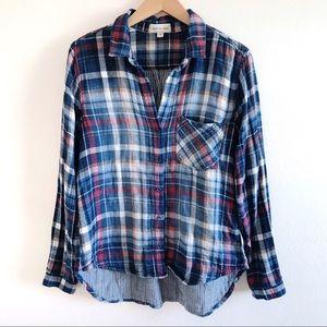| Cloth & Stone | Vintage Wash Plaid Flannel Top